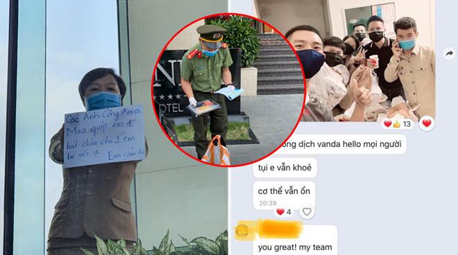 Tác giả bức ảnh ấm áp ở khu cách ly kể về những chiến sĩ công an mua cháo cho em bé