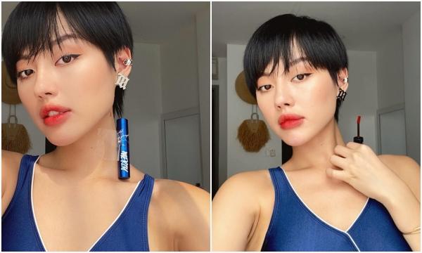"""Cách ly rảnh rang, """"cô em trendy"""" Khánh Linh cũng bắt trend thử thách son môi, ai dè cũng phải dùng """"mánh"""" như Min mới được"""