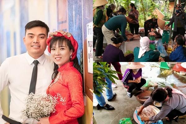Cô dâu hoãn gấp đám cưới vì gần nhà bố bệnh nhân 17, hàng xóm đến giải cứu 90 triệu tiền cỗ