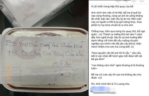 Lo con ở trên thành phố ăn uống không đủ chất, bố chu đáo làm hẳn hộp thịt quay gửi lên kèm lời nhắn đầy nước mắt