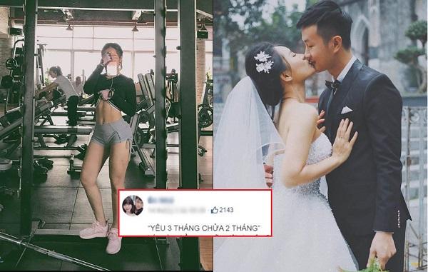 """Pha """"đánh nhanh thắng gọn"""" của hot girl phòng gym: Yêu 3 tháng đã bầu 2 tháng khiến chàng phải """"cưới nhanh còn kịp"""""""