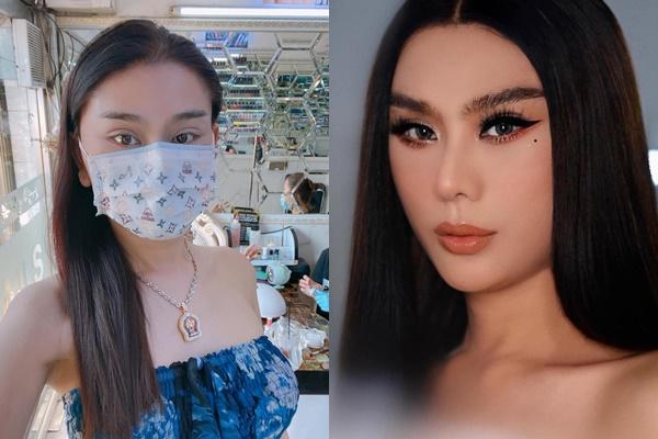 Lâm Khánh Chi khiến dân mạng giật mình vì đeo khẩu trang lộ đôi mắt xếch sưng húp