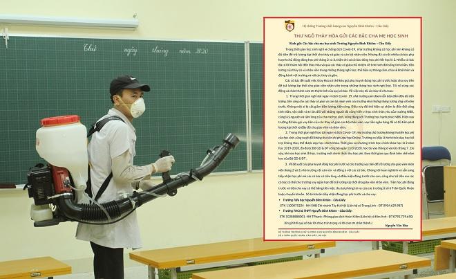 Thất thu do dịch Covid-19, trường vẫn nỗ lực trả lương cho giáo viên, phụ huynh cũng chung tay góp sức