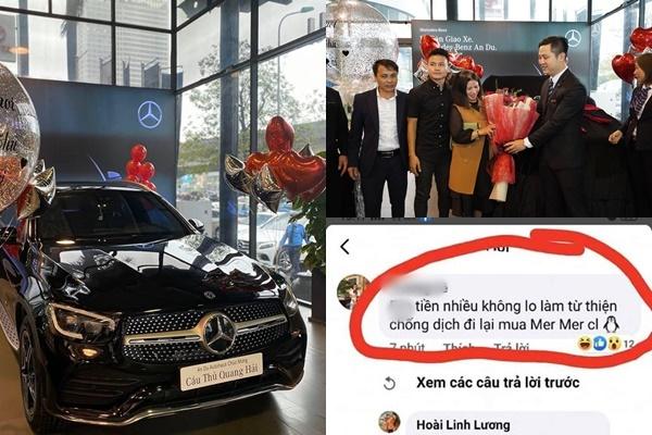"""Lộ ảnh mua xe, Quang Hải bị anti fan """"dạy cách tiêu tiền"""": """"Cả nước đang từ thiện chống dịch, anh lại đi mua xe"""""""