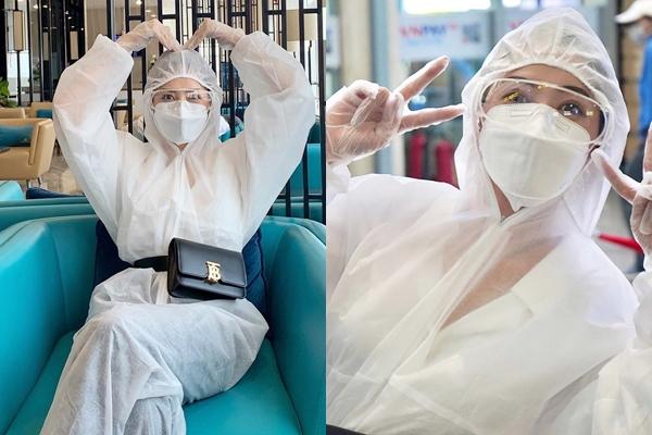 """Thời trang sân bay phải dụi mắt mấy lần mới nhận ra của Chi Pu: Cứ bọc kín từ đầu đến chân thì virus cũng phải """"chào thua"""""""