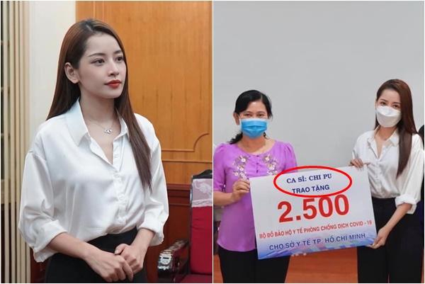 """Tiếp tục trao tặng 5000 bộ đồ phòng dịch, Chi Pu vẫn tranh thủ khẳng định mình là """"ca sĩ"""" rất tinh tế"""