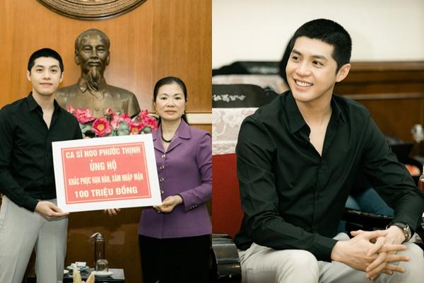 """Noo Phước Thịnh bảnh bao với kiểu tóc """"Itaewon Class"""" đi từ thiện, CĐM khen đã đẹp trai lại còn tốt bụng"""