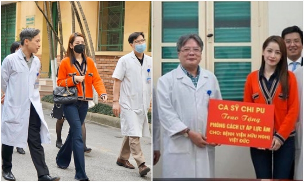 Set đồ kín đáo mà vô giá trị của Chi Pu khi đi từ thiện phòng cách ly tiền tỷ cho bệnh viện