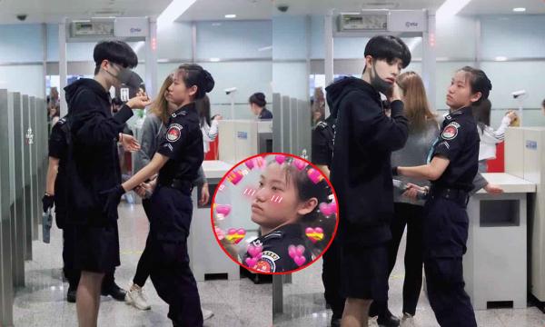 """Xuất hiện ở sân bay, trai đẹp tựa nam thần khiến nữ an ninh """"đứng hình"""", hội chị em yêu cầu cách ly ngay tại nhà...em"""