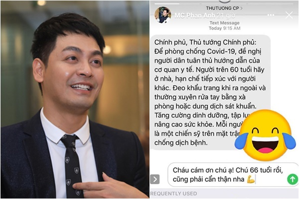 MC Phan Anh bị dân mạng ném đá tơi tả vì đùa cợt với tin nhắn chống dịch của Thủ tướng?
