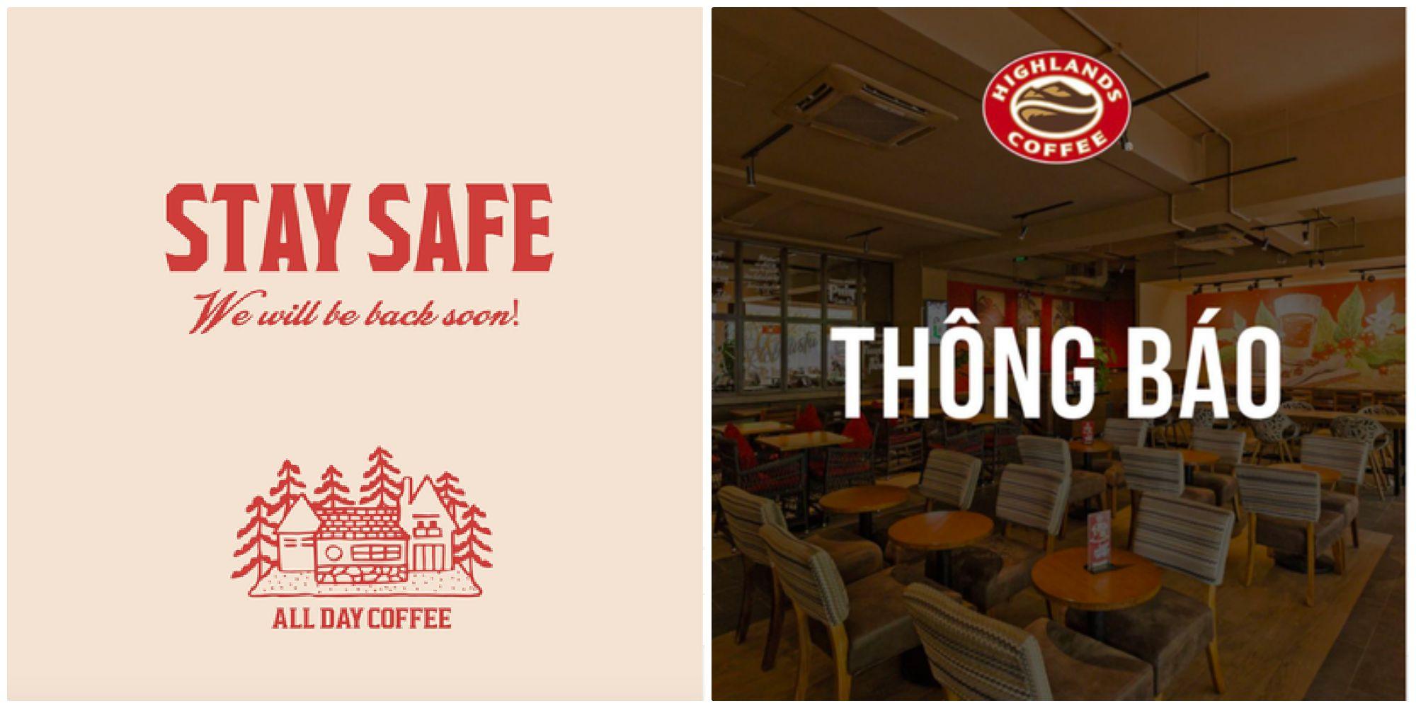 Hàng loạt quán cafe ở Hà Nội, Sài Gòn đồng loạt đóng cửa phòng dịch từ nay đến hết ngày 5/4