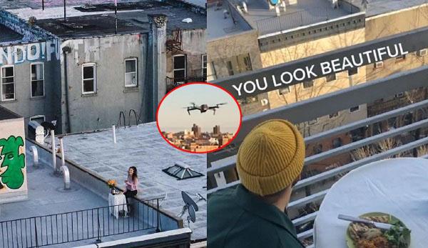 Tán gái mùa dịch: Gửi thư làm quen bằng flycam, buổi hẹn hò đầu tiên mỗi người ngồi một góc sân thượng
