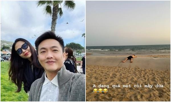 """Đàm Thu Trang đăng ảnh dìm hàng Cường Đô La trong tình trạng """"thiếu vải"""", vẫn cứ phong độ hết nấc"""