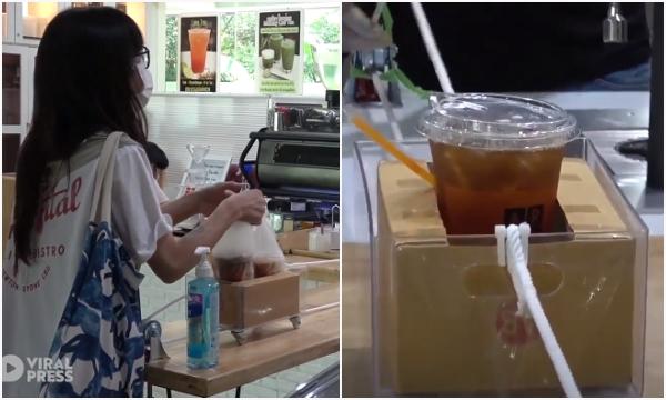 Dùng ròng rọc tránh tiếp xúc với khách, đây là quán cafe đang hot nhất Thái Lan