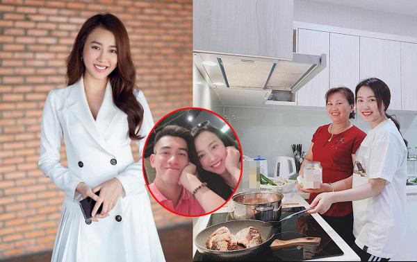 """Khoe ảnh """"tập nấu ăn để lấy chồng"""", bạn gái Tiến Linh lộ ngoại hình mũm mĩm với vòng 2 to bất thường"""