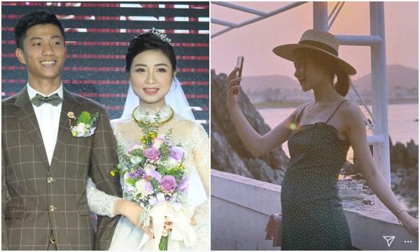 Vợ Văn Đức khoe bụng bầu đã nhô cao sau 4 tháng kết hôn, gương mặt của mẹ bầu mới đáng chú ý