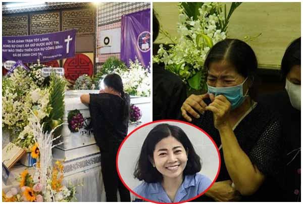 Mẹ ruột Mai Phương bật khóc khi nhìn con gái lần cuối trước khi hỏa táng!