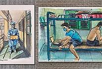 Siêu ấn tượng với bộ tranh ký họa của du học sinh về cuộc sống 14 ngày tại khu cách ly tập trung