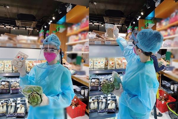 Diện đồ bảo hộ kín mít đi siêu thị sắm đồ chuẩn bị cách ly, Angela Phương Trinh vẫn thu hút bao ánh nhìn vì điểm này trên cơ thể