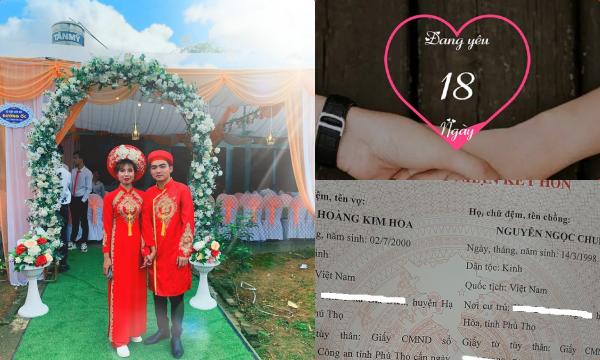 Góc đánh nhanh thắng gọn: Cặp đôi 2k đăng ký kết hôn sau 18 ngày hẹn hò, lần đầu đến nhà bạn gái đã xin hỏi cưới