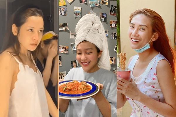 """Ở nhà nghỉ dịch, mỹ nhân Việt đua nhau """"đọ"""" nhan sắc mặt mộc"""