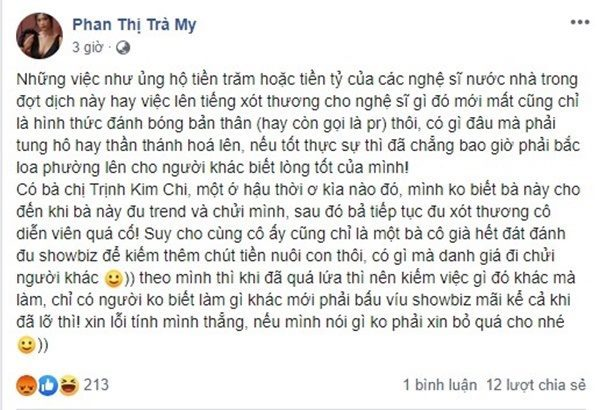"""Dám mỉa mai đàn anh đàn chị, Trà My bị Đàm Vĩnh Hưng nói thẳng mặt """"Là rác chỉ nên vứt đi"""""""