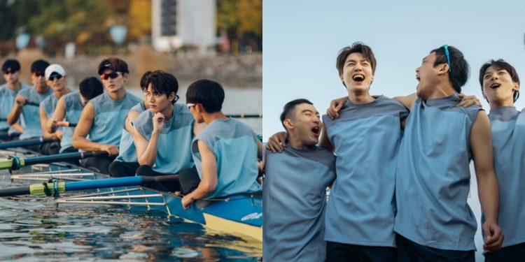 """Diện áo mỏng, Lee Min Ho khoe bắp tay săn chắc cùng dàn cực phẩm """"trai làng"""" trong Bệ Hạ Bất Tử"""