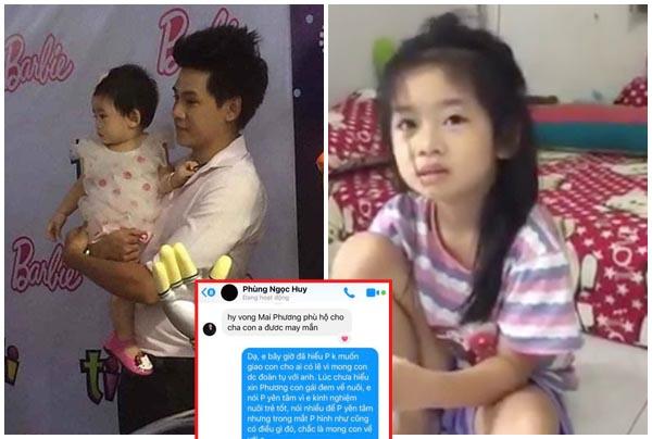 Vy Oanh bất ngờ công khai tin nhắn của Phùng Ngọc Huy nói về việc nuôi con gái Mai Phương
