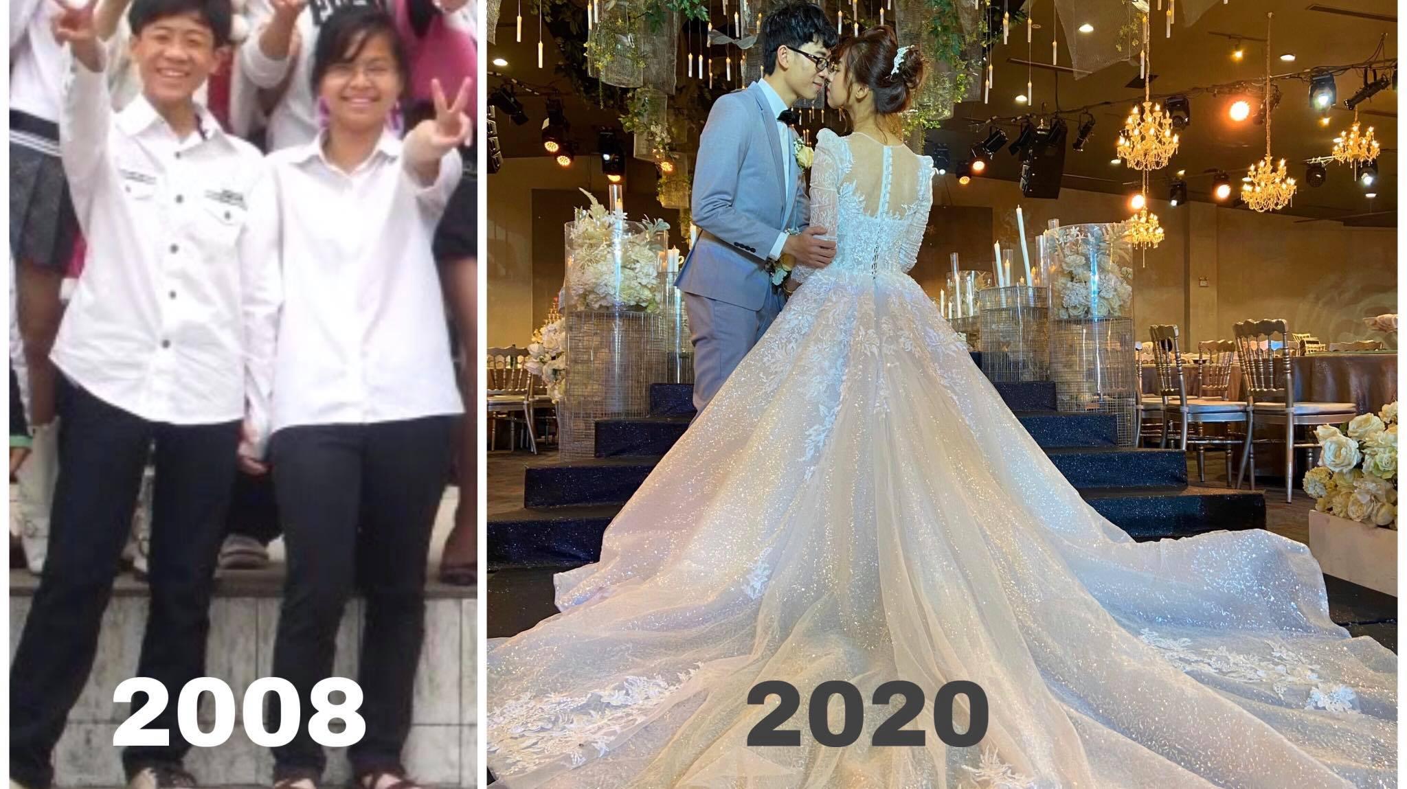 """Yêu nhau 12 năm, đi từ lớp học đến lễ đường, cặp đôi ngẫm ra chân lý: """"Can đảm yêu, can đảm chờ, can đảm hạnh phúc"""""""
