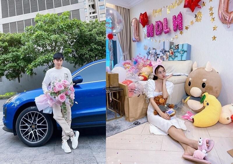 Sinh nhật Ninh Dương Lan Ngọc, Chi Dân ôm bó hoa hồng siêu to khổng lồ chẳng cần nói fan cũng biết là tặng ai