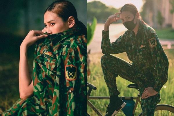 """Out khỏi Vietnam's Next Top """"Cách Ly"""", Võ Hoàng Yến diện quân phục chất như Hậu Duệ Mặt Trời"""