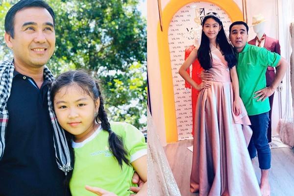 Con gái Quyền Linh mới 14 tuổi đã ra dáng hoa hậu với chiều cao vượt cả bố