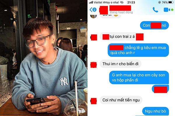 """Đọc trộm tin nhắn thấy tình cũ chê mình nghèo, chàng trai tức giận đăng đàn tố, ai ngờ bị chỉ trích: """"Loại đàn ông mặc váy"""""""