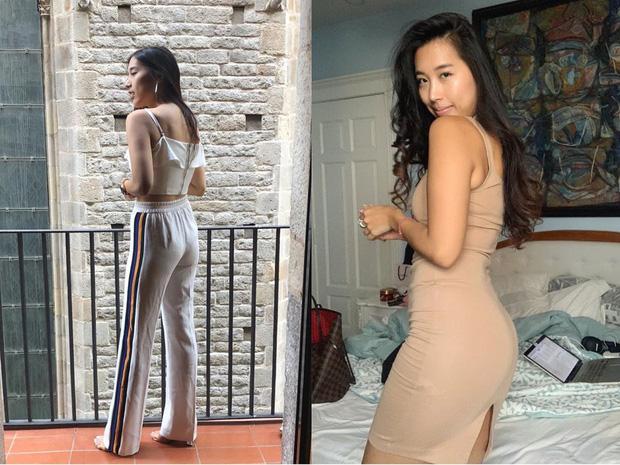 """Bạn gái cũ Huỳnh Anh khoe body trước và sau khi tập luyện nghiêm túc: Không giảm được cân nhưng nhìn """"nuột"""" hơn hẳn"""