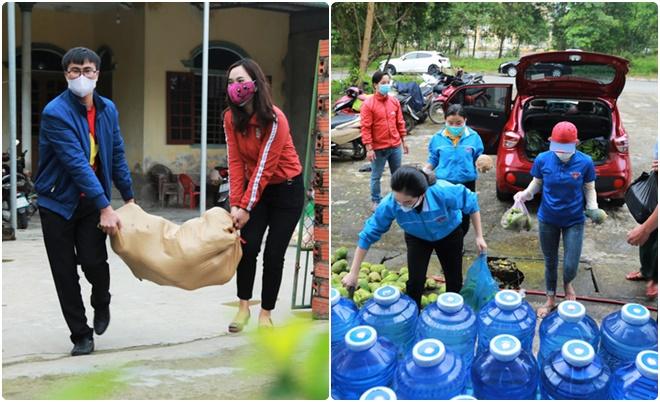 Giảng viên, sinh viên ĐH Hà Tĩnh đi quyên góp lương thực cải thiện bữa ăn cho gần 1.000 người cách ly
