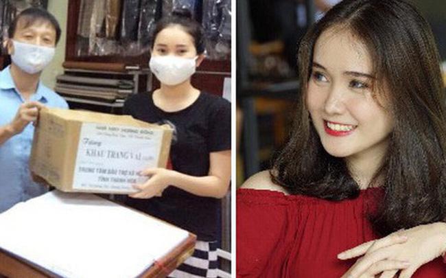 Nữ sinh xinh đẹp trường Luật cùng gia đình may 3.000 chiếc khẩu trang ủng hộ chống dịch Covid-19