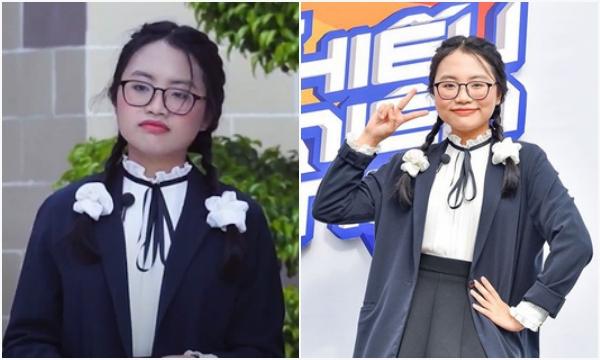 """Lâu lắm mới đi làm MC show thực tế cho học sinh, Phương Mỹ Chi bị soi lỗi trang điểm """"má hồng rực"""" như Annabelle"""