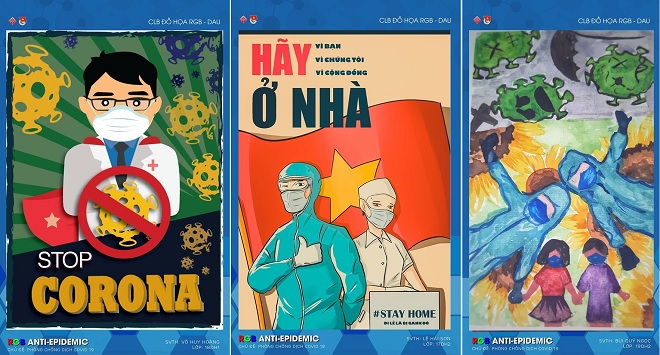 """Ngắm loạt tác phẩm đồ họa """"siêu chất"""" tuyên truyền chống dịch Covid-19 của sinh viên Kiến trúc Đà Nẵng"""
