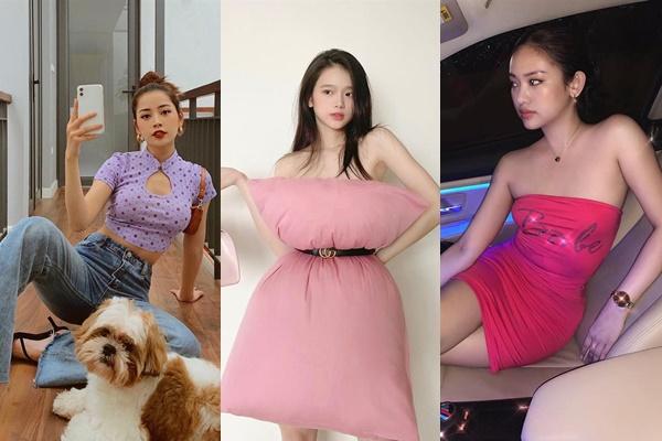 """Khi dàn hotgirl """"mạng"""" phải ở nhà: Linh Ka """"đu"""" trend để lộ vóc dáng gầy guộc, Thúy Vi photoshop cỡ nào cũng vẫn lộ ngấn mỡ"""