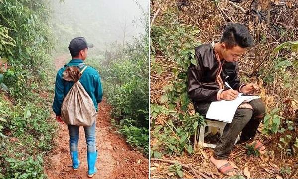 Những học sinh đặc biệt khó khăn của trường Phổ thông vùng cao Việt Bắc vẫn nỗ lực học online giữa núi rừng