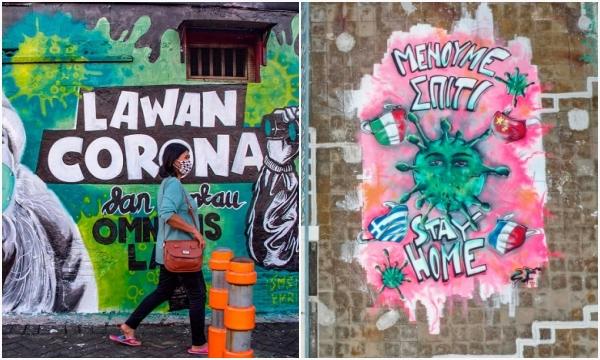 Những tác phấm nghệ thuật đường phố cùng thông điệp chống dịch Covid-19