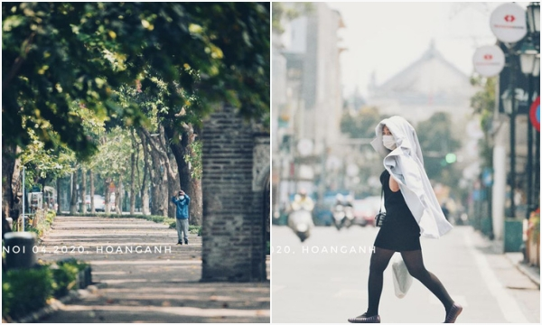 """Cảnh tượng """"hiếm có khó tìm"""" ở Hà Nội giữa đầu hè tháng 4 sau khi tiếp tục cách ly xã hội"""