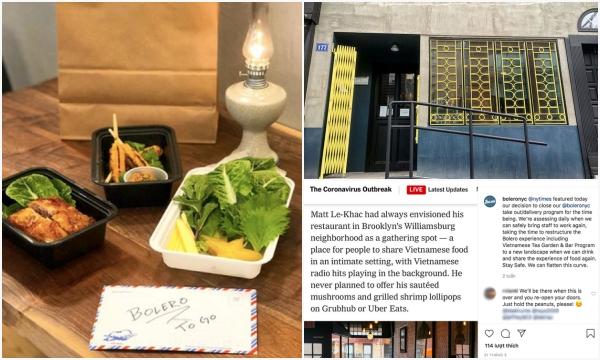 Lên hẳn báo Mỹ, nhà hàng Việt Nam ở New York gây ấn tượng với cách bán onl siêu độc mùa dịch