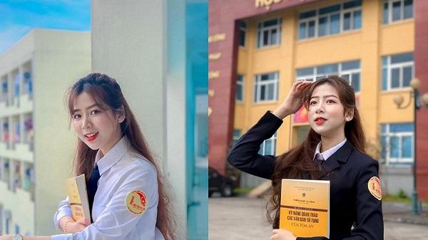 Nữ sinh Phú Yên xinh đẹp đạt điểm thi ĐH cao ngất ngưởng để lặn lội ra thủ đô theo học Học viện Tòa án