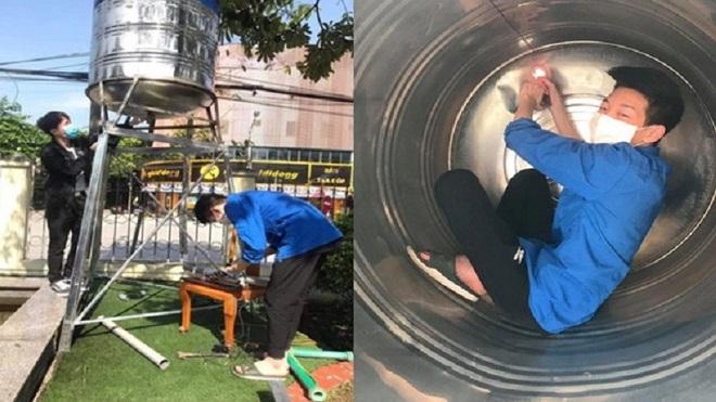 """Học sinh Lào Cai chế tạo cây """"ATM gạo"""" đầu tiên cho tỉnh nhà, trường kêu gọi ủng hộ được hơn 4 tấn gạo"""