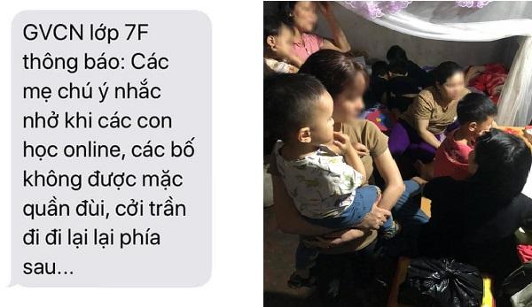 Cô nhắn tin nhắc các bố mặc lịch sự khi đi qua camera con học online: Phụ huynh hãy đồng cảm với thầy cô