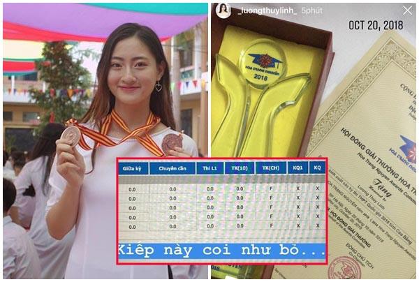 Lộ bảng điềm toàn 0, Hoa hậu Lương Thùy Linh lấp liếm bằng loạt chứng chỉ bằng cấp hoa mắt