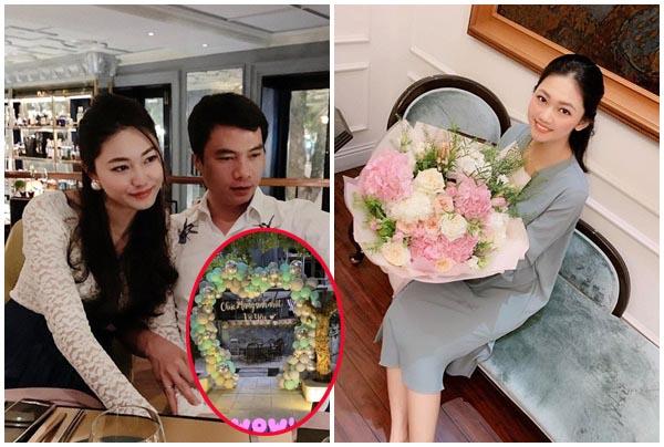 Lui về ở ẩn, Á hậu Thanh Tú vẫn tự hào khoe tiệc sinh nhật chồng đại gia tổ chức cực lãng mạn hạnh phúc