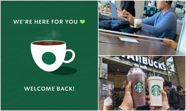 Starbucks chính thức mở cửa trở lại, nhưng chỉ cho phép tối đa 10 KHÁCH ngồi tại quán cùng một lúc