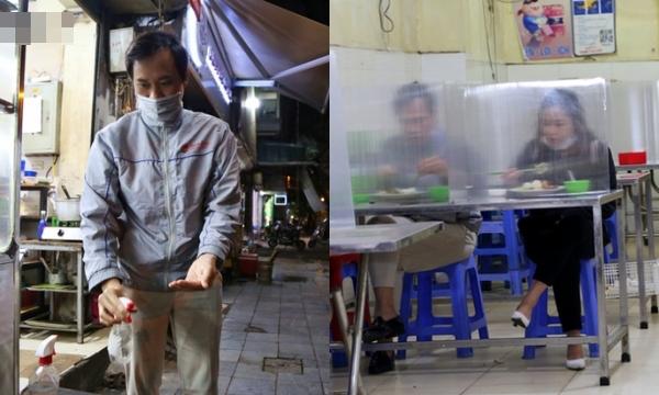 Độc đáo quán cơm lắp kính chắn giọt bắn ở Hà Nội để đón khách: Hành động đơn giản mà thiết thực